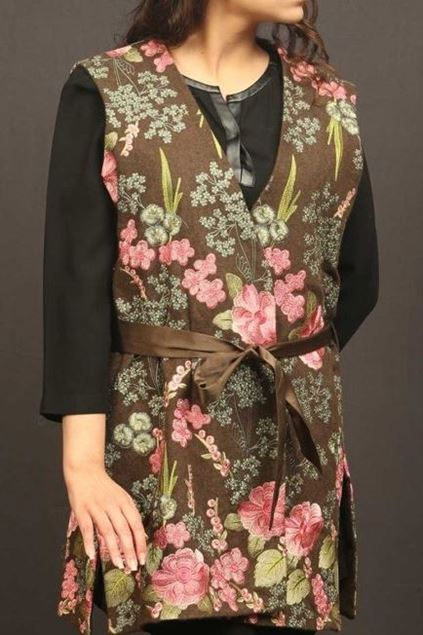 Picture of Brown Floral Jacket