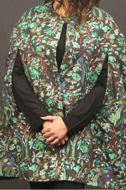 Picture of Green Floral Pattern Cape