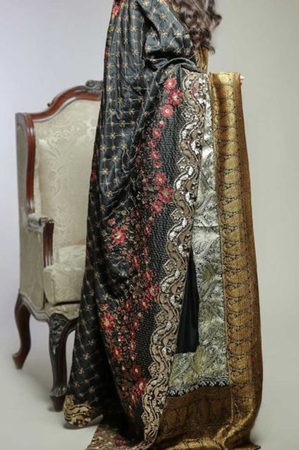 Picture of Raw Silk Formal Shawl