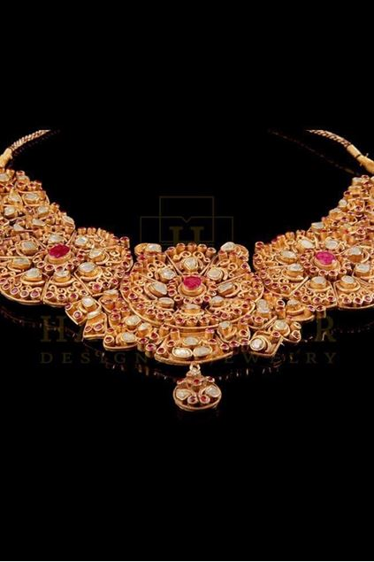 Picture of Pure Diamonds and Rubies Polki Set