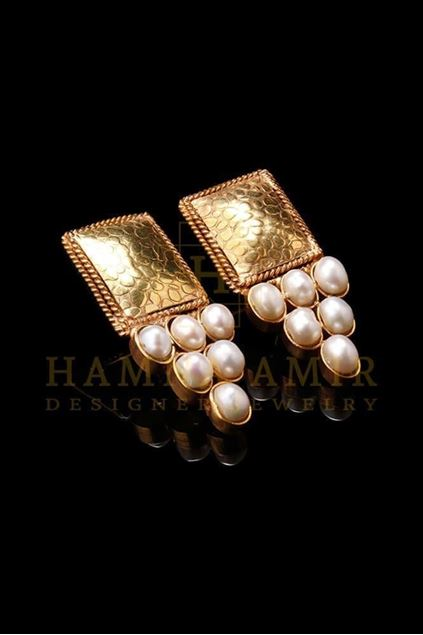 Picture of Gold Plated Pearl Earrings