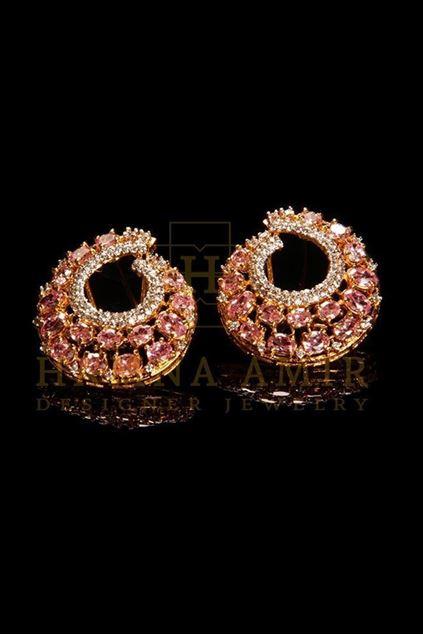 Picture of Pink Zircon Earrings