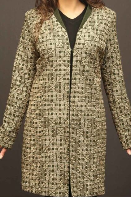 Picture of Olive Green Gold Pattern Jacket