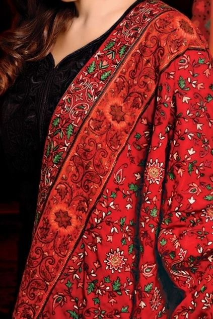 Picture of Red Classic Kani Shawl