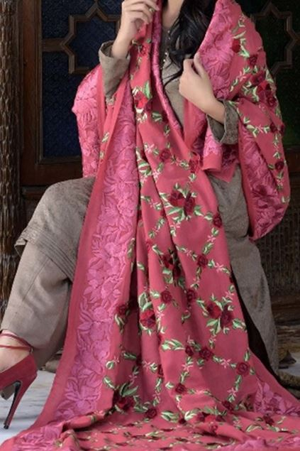 Picture of Pink Classic Shawl