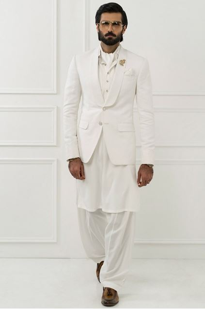 Picture of Classic White Linen Blazer