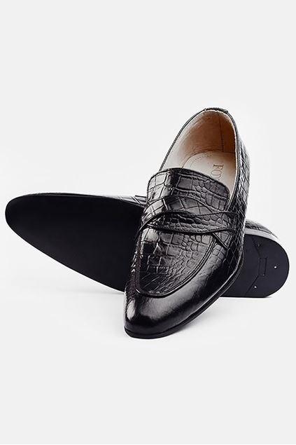 Footprint - Black Fashion Leather Slip On