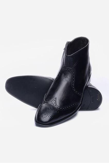 Footprint - Black Formal Leather Brogue Boots