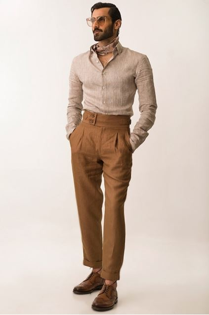 Picture of High Waisted Linen Pants