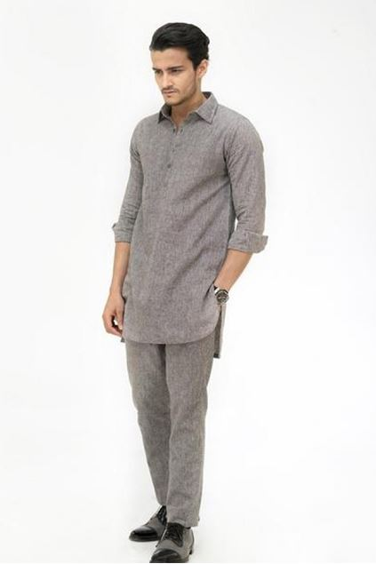 Picture of Grey Linen Pants