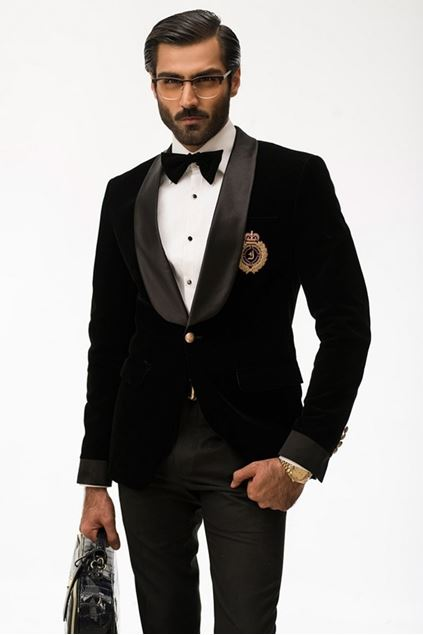 Picture of Classic Black Velvet Dinner Jacket