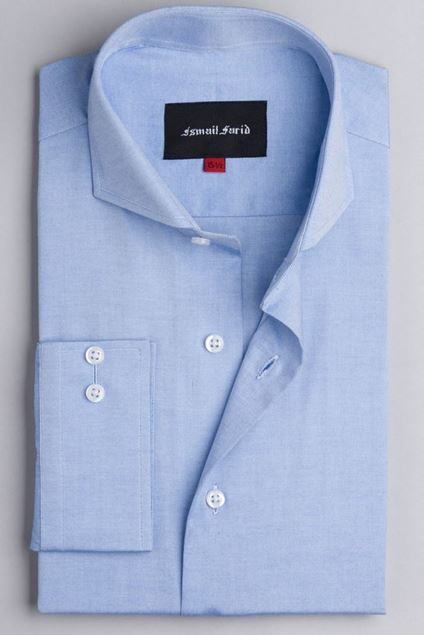 Picture of Blue Textured Business Formal Shirt