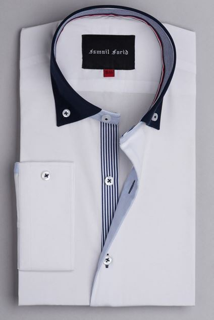 Picture of White - Stripe Detailed Shirt