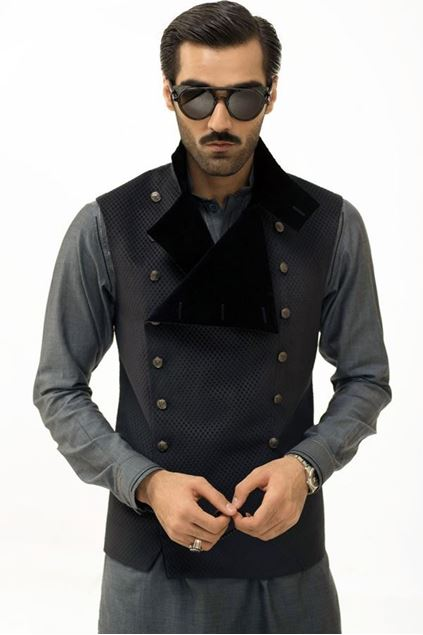 Picture of Blue Suede Waistcoat
