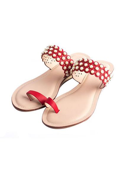 Picture of Casual Chappal 005583 - Red