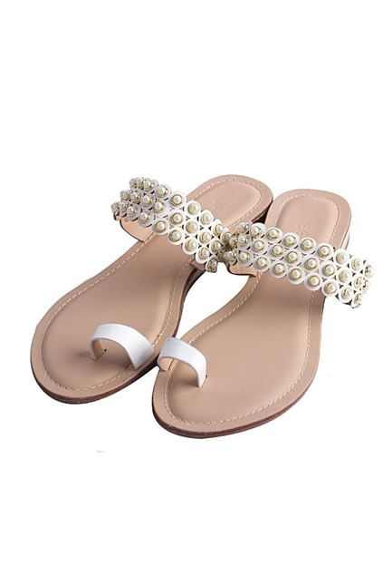 Picture of Casual Chappal 005583 - White