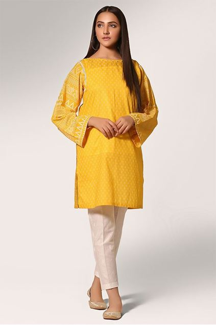 Picture of Yellow Color Printed Shirt