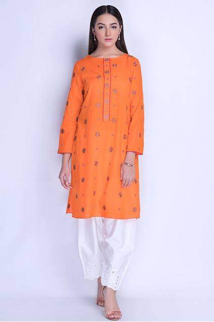 Picture of Orange Embroidered Shirt