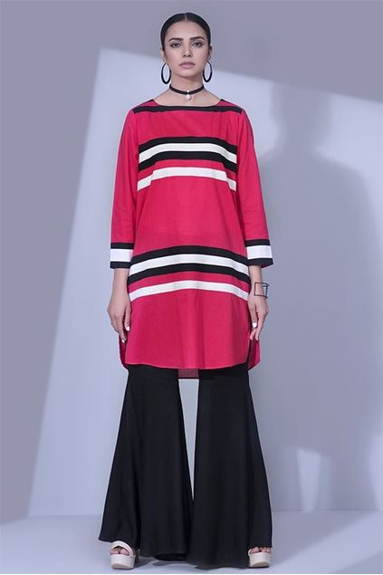 Picture of Bold Stripes Cut And Sew Shirt