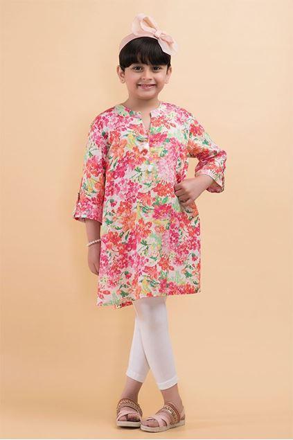 Picture of Pink Printed Kurti