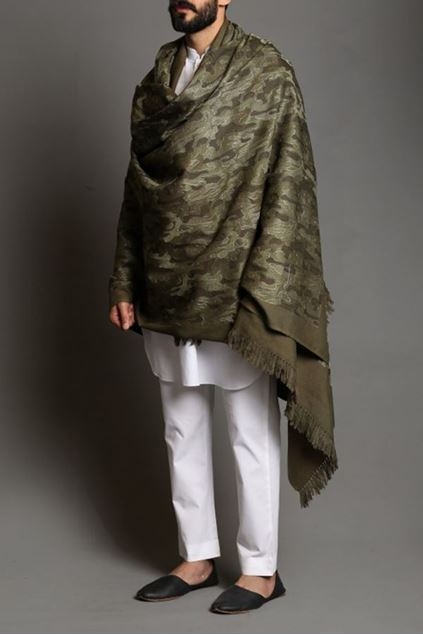 Picture of Camo Pashmina Shawl 1A