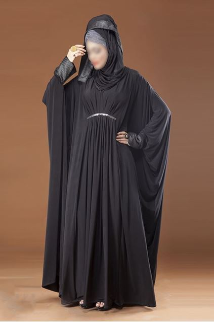 Picture of Black Flairy Style Designer Abaya For Women JILBAB-RC-873