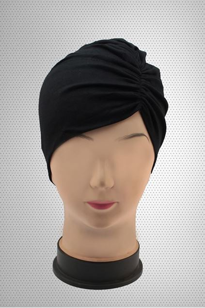 Picture of Black Side Parting Hijab Cap
