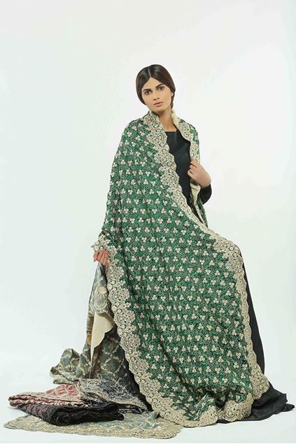 Picture of Green Pattern Shawl