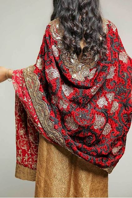 Picture of Red Velvet Shawl