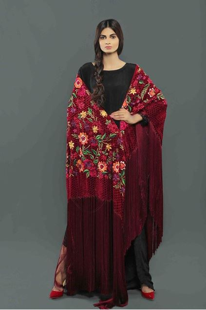 Picture of Cape Shawl With Silk Tassles