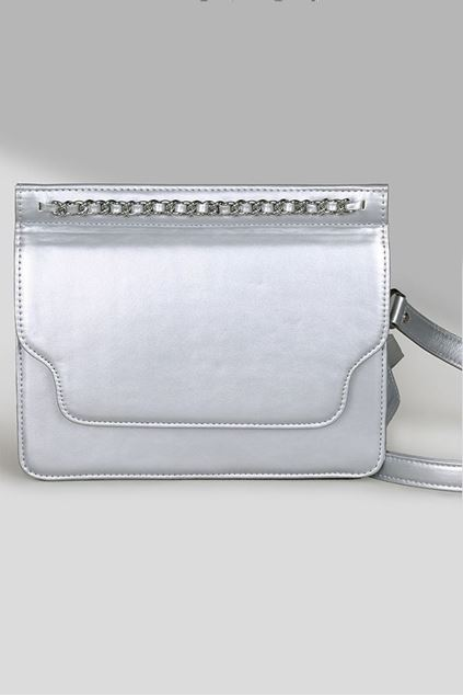 Picture of Silver Leather Flap
