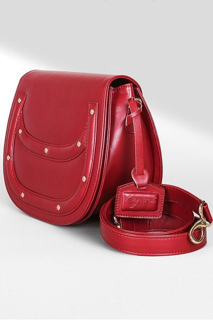 Picture of Red Leather Flap Bag