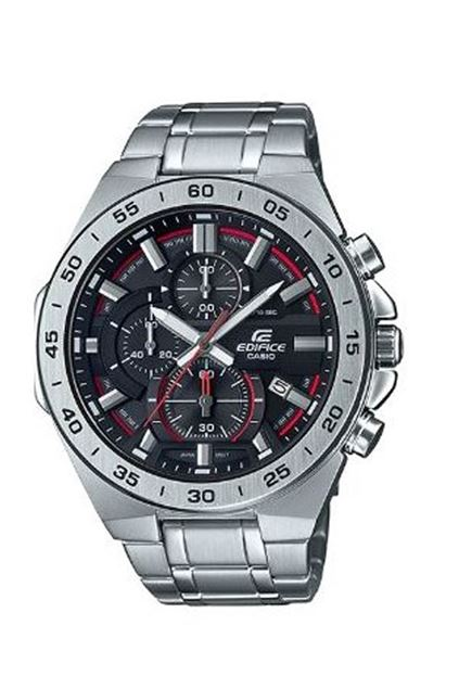 Picture of Edifice Men's Steel Chronograph Silver & Black Watch