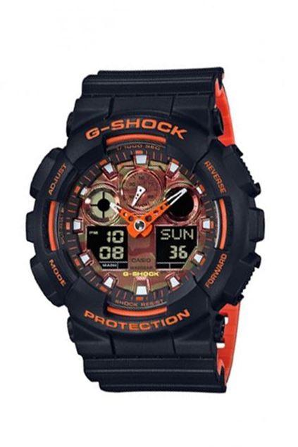 Picture of G-Shock Bi-Color Black & Orange Resin Band