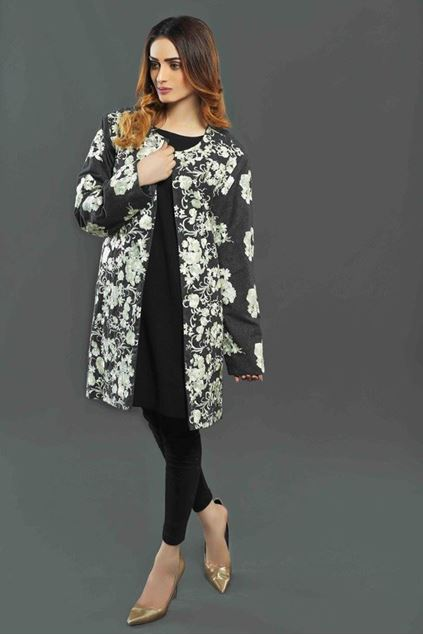Picture of White Floral Print Jacket