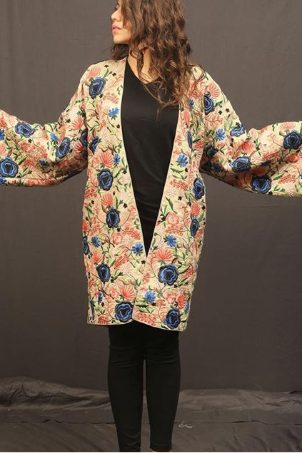 Picture of White Pink Floral Jacket