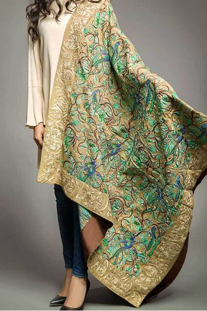 Picture of Green Formal Shawl