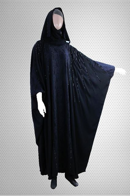 Picture of Best Stone And Patched Work Flairy Designer Abaya Jilbab-RC-760