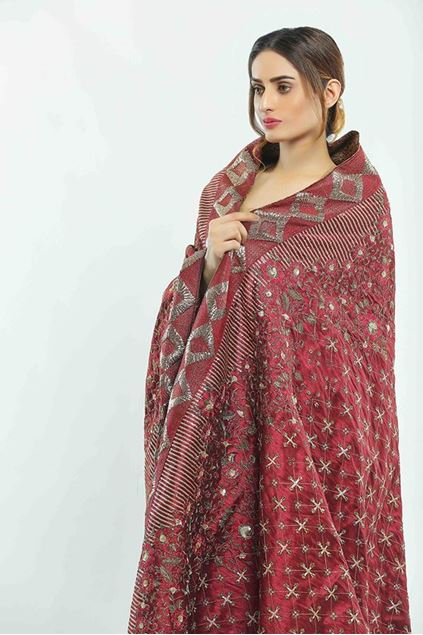 Picture of Pink Rawsilk Shawl