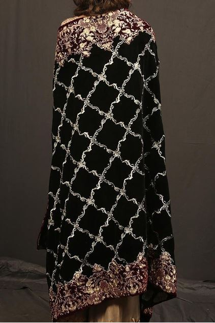 Picture of Royal Black & Silver Shawl