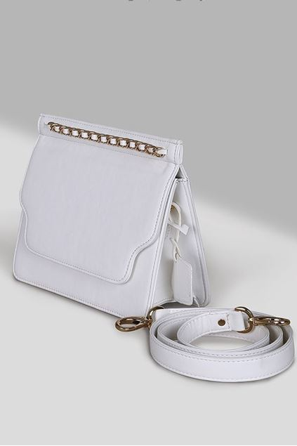 Picture of White Leather Flap