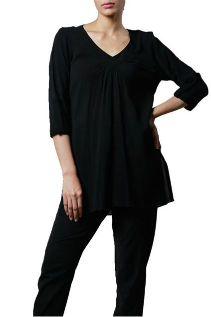 Picture of Black Tunic With 3/4 Sleeves