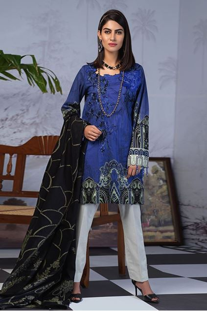 Picture of Blue  Embroidered Suit