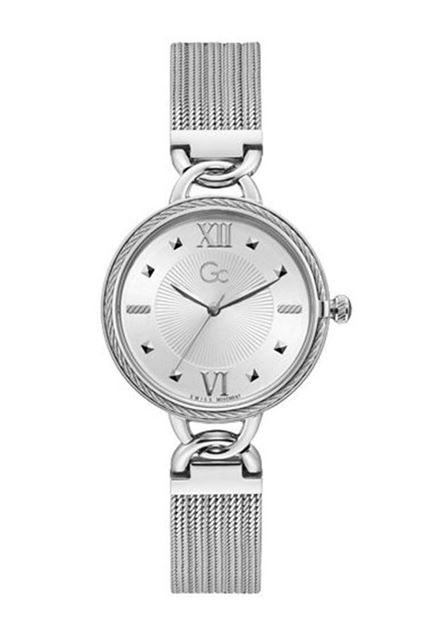 Picture of Gc Womens Silver Mesh Bracelet Watch