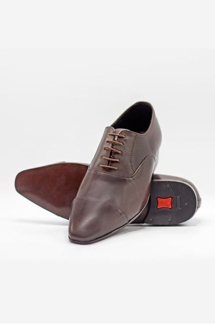 Footprint - Brown Fashion Leather Lace Up