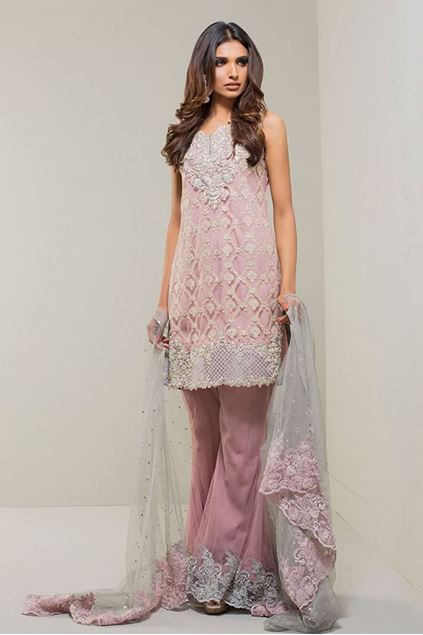 Picture of Mauve with Grey Dupatta Dress