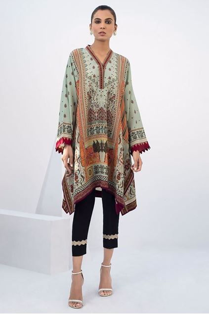 Picture of Crepe Digitally Printed Kurta