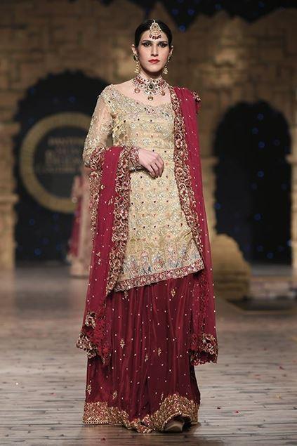 Sadaf Amir - Golden Bridal Raw Silk Lehenga