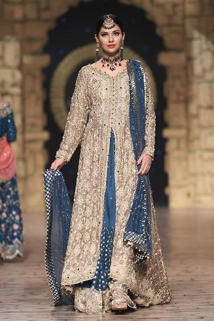 Sadaf Amir - Golden Bridal Raw Silk Sharara
