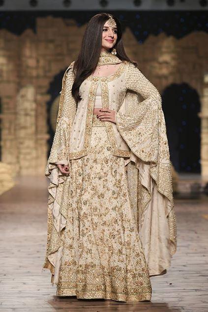 Sadaf Amir - White Bridal Raw Silk Lehenga